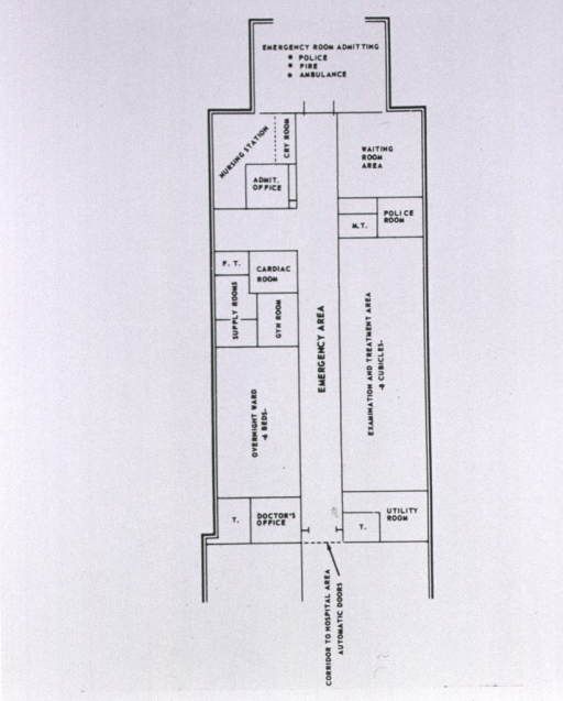 <p>Emergency room, floor plan.</p>