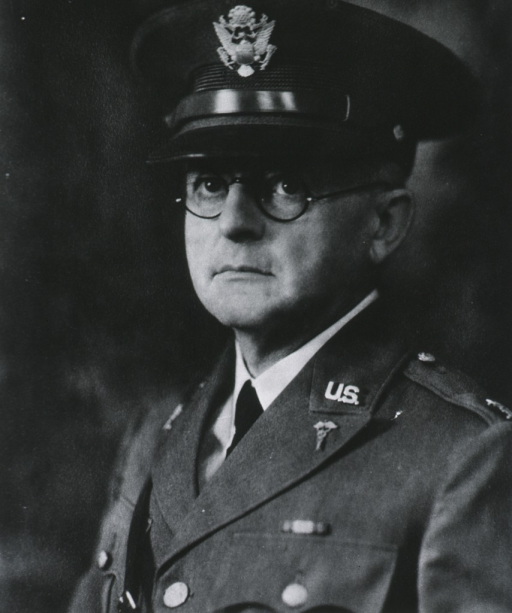 <p>Head and shoulders, left pose, full face; wearing uniform and cap (Colonel).</p>