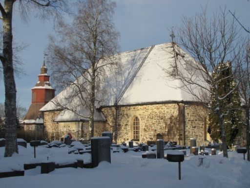 The church in Paimio, the birthplace of Johan Haartman. When Johan Haartman was borne his father was professor in theology and the minister in the parish of Paimio, 25 km east from Turku. The vicarage was replaced with a new building in 1806. Haartman's home in Turku, a possible portrait and other mementoes were destroyed in the great fire of the town of Turku in 1827. Only a few letters, the publications and the funds for a chair in medicine, which Haartman donated to the university, remain.