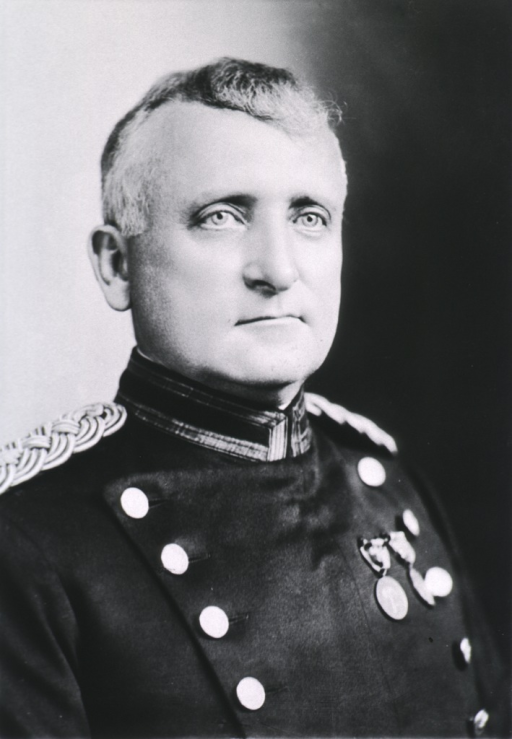 <p>Head and shoulders, right pose, full face; wearing uniform (Colonel, M.C.).</p>