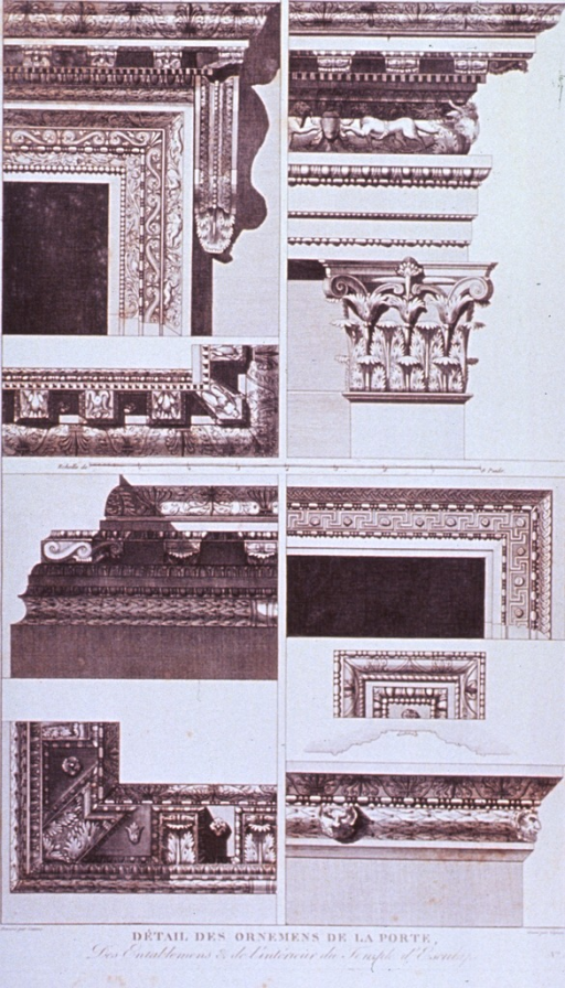 <p>Detail of ornaments for a temple building.</p>
