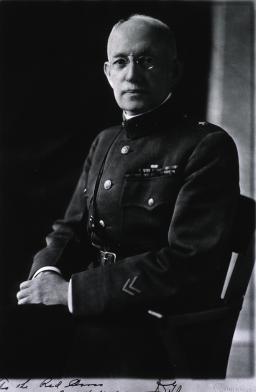 <p>Three-quarter length, left pose, full face, seated; wearing uniform.</p>