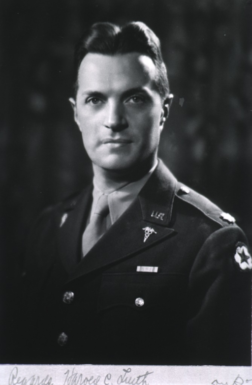 <p>Head and shoulders, full face, in uniform of army officer.</p>