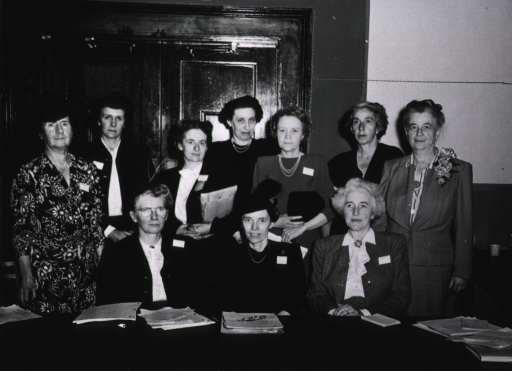 <p>Group photo of the Board of Directors of N.O.P.H.N., 1946-1948.</p>
