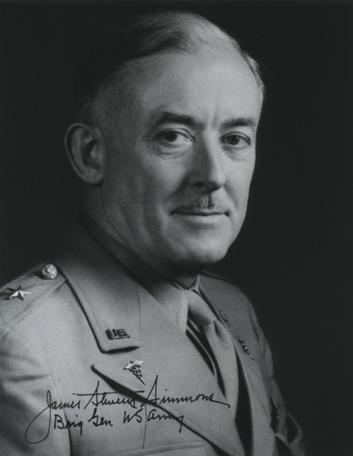<p>Head and shoulders, right pose, wearing uniform of Brig. Gen.</p>