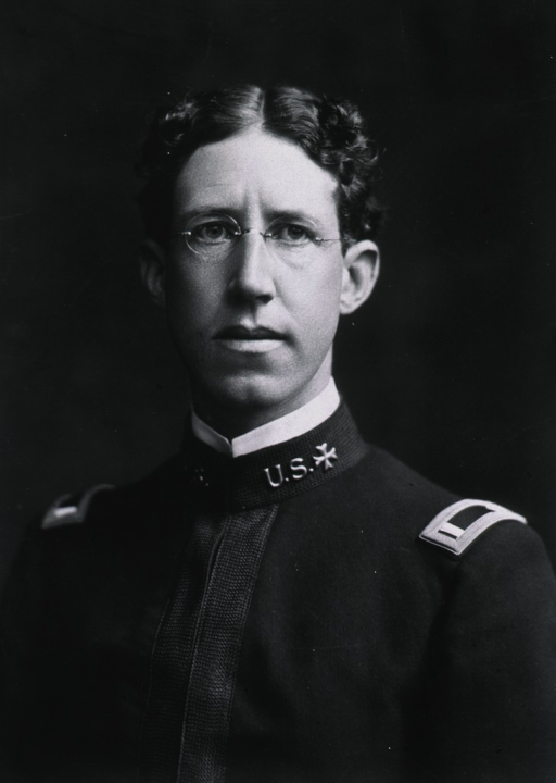 <p>Head and shoulders, full face, wearing U.S. Army M.C. uniform.</p>