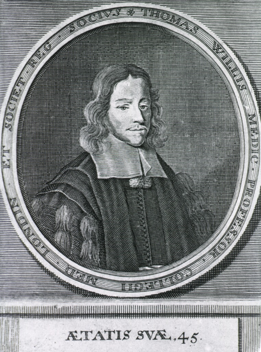 <p>Head and shoulders, front; portrait in oval with Latin inscription around border.</p>