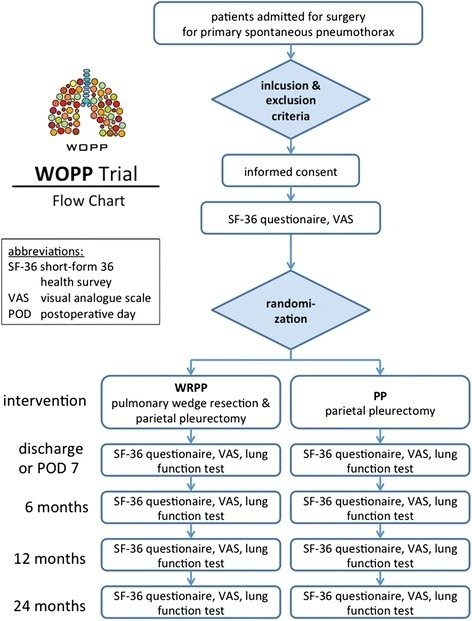 Course of the WOPP trial