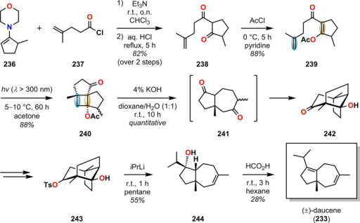 Synthesis of daucene 233 by use ofthe demayo rea open i synthesis of daucene 233 by use ofthe demayo reaction ccuart Choice Image