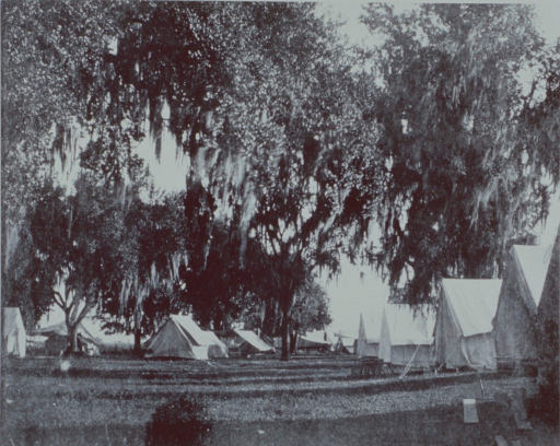 <p>The temporary tent hospital maintained by the U.S. Marine Hospital Service at Franklin, Louisiana, during the yellow fever epidemic of 1898.</p>