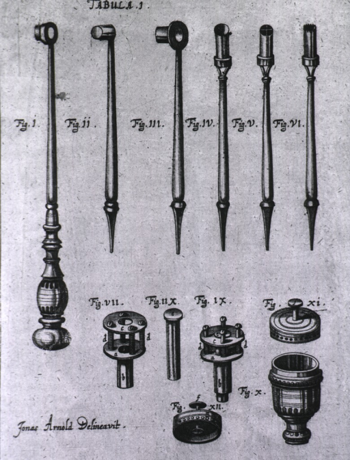 <p>A variety of cannulas and other instruments.</p>