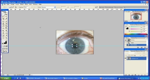 Measurement of pupil and iris size with adobe Photoshop software