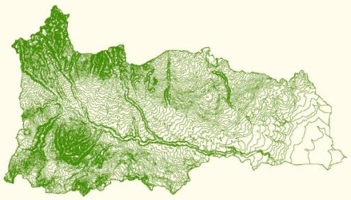 Contour map of the Manupali watershed Source SANREM C Openi