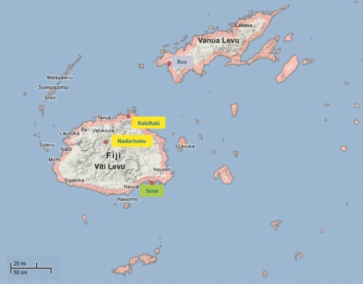 Map of fiji islands showing the sampling locations a t open i map of fiji islands showing the sampling locations a total of 179 samples were collected gumiabroncs Gallery