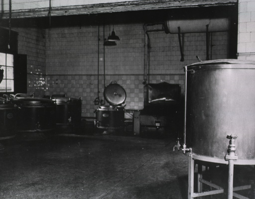 <p>View showing various equipment in a kitchen.</p>
