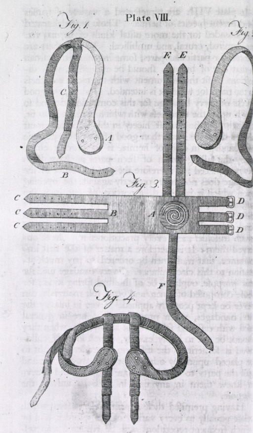 <p>Trusses used in the treatment of hernia.</p>