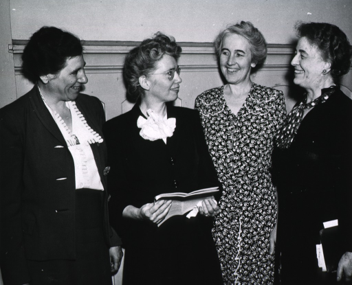 <p>View of four women who served on the board.</p>