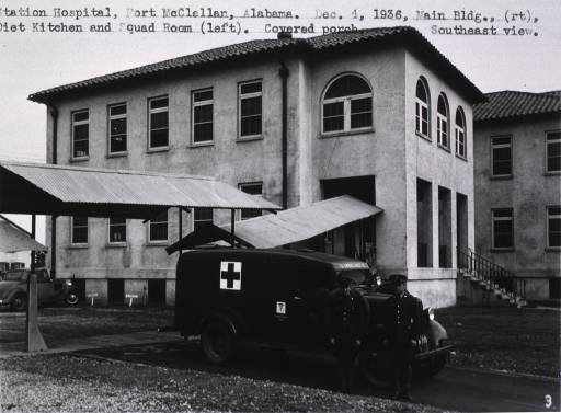 <p>Main building, ambulance in front.</p>