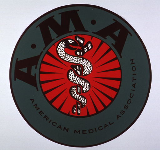 <p>Insignia of the American Medical Association.</p>