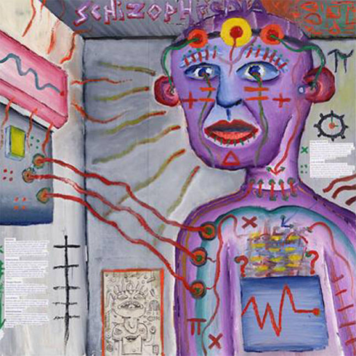 This painting is frequently used to teach undergraduates what a person with schizophrenia experiences (Painting: Craig Finn)