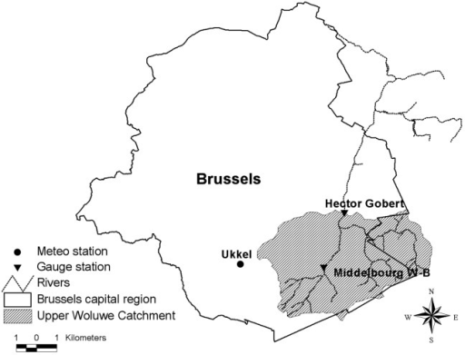 Location of the Upper Woluwe catchment.