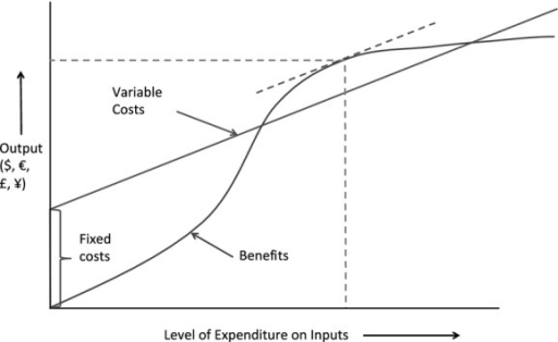 Cost-benefit model for livestock disease control with fixed costs (adapted fromTisdell, 2009)
