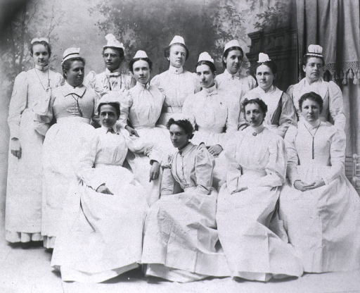 <p>Group of nurses at Josiah Simpson Gen. Hosp.</p>