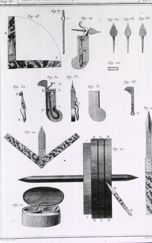 <p>Various styles of fleams and lancets.</p>