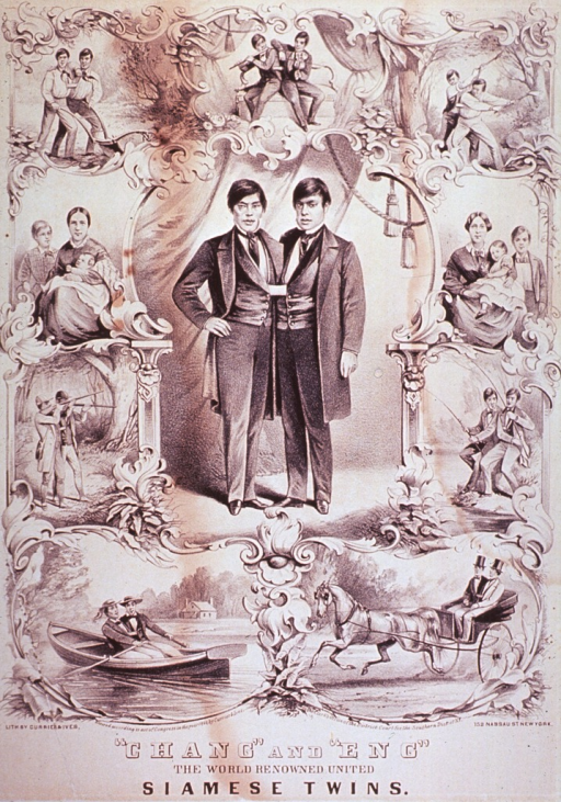 <p>Portrait of the twins with nine vignettes along the border depicting them in such activities as hunting, boating, plowing, and with their respective families.</p>