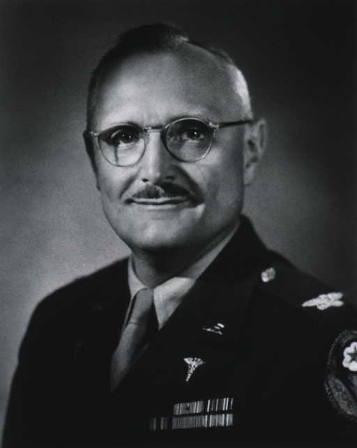 <p>Head and shoulders, left pose, full face; wearing uniform (Colonel, M.C.).</p>