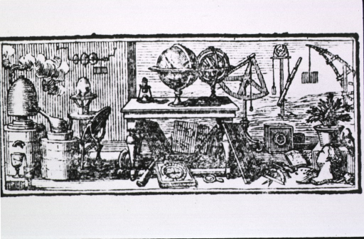 <p>Interior view of a room cluttered with scientific equipment.</p>
