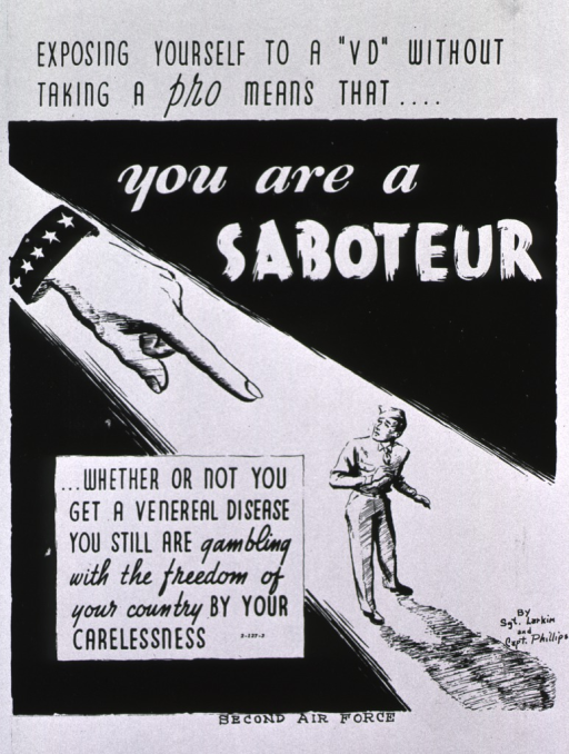 <p>Black and white poster.  Title at top of poster.  Visual image is an illustration of a serviceman standing in a beam of light.  A giant hand points at him from above.  Note in lower left corner.  Publisher information at bottom of poster.</p>