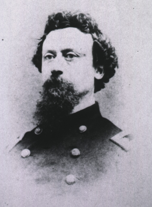 <p>Head and shoulders, full face, turned slightly to left, wearing Civil War uniform.</p>