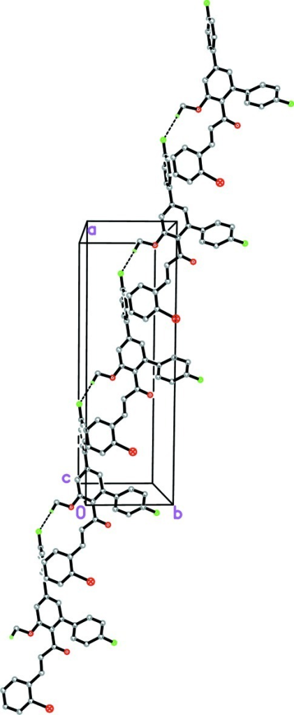 The crystal packing of the title compound. The dashed lines represent the hydrogen bonds.