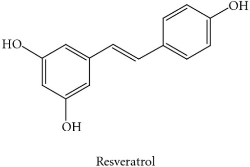 Chemical structure of resveratrol. The 4′-OH in resveratrol provides its chemical and biological features.The transfer of protons or hydrogen atoms to reactive species appears to be crucial to its antioxidant mechanism.