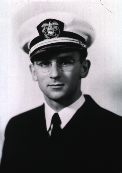 <p>Head and shoulders, full face, wearing USPHS uniform with white cap.</p>