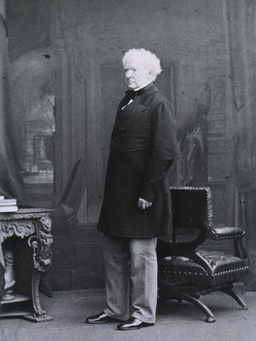 <p>Standing with back to a chair; left pose.</p>