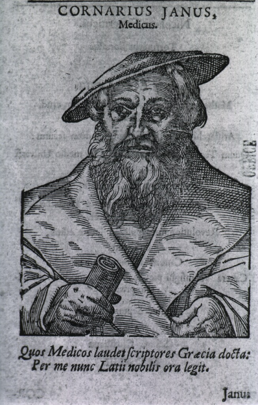 <p>Half-length, full face, holding scroll in hand.</p>