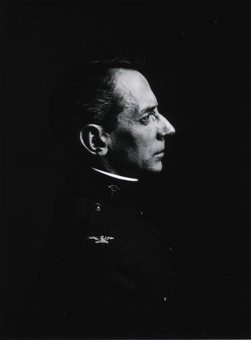 <p>Right profile, wearing uniform (Colonel).</p>