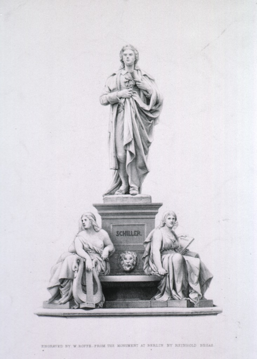 <p>Figure standing.  Two mythicalogical figures at base.</p>