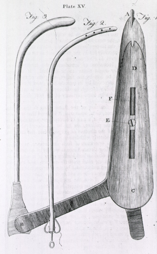 <p>Instruments used for lithotomy.</p>