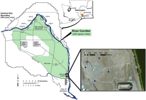 Study Site Map Map Showing The Location Of The Hanford Open I