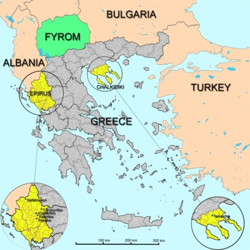 what are the countries that border greece