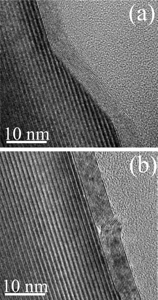 Representative HRXTEM images. Sample annealed at 2000°C.