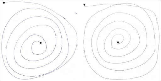 (A, B) Two Spirals that Received Ratings of 0.5.