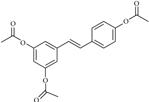 The chemical structure of 3,5,4′-tri-O-acetylresveratrol (AC-Rsv).