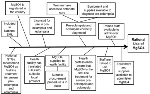 Fishbone diagram identifying requirements for the ratio open i fishbone diagram identifying requirements for the rational use of magnesium sulphate in a health facility ccuart Images