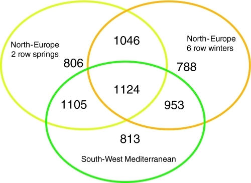 Venn Diagram Showing Polymorphic Marker Overlap A Thre Open I