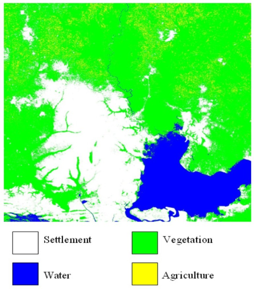2000 Classified Landsat ETM+ Image of Lagos and its Vicinity.