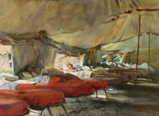 The Interior of a Hospital Tent by John Singer Sargent 1918 watercolour on & The Interior of a Hospital Tent by John Singer Sargent | Open-i